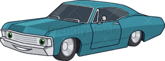 Vintage sports car. PNG - JPG and vector EPS (infinitely scalable).