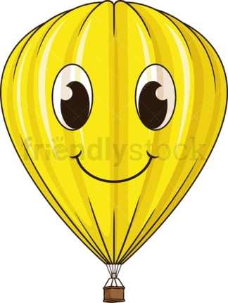 Yellow hot air balloon. PNG - JPG and vector EPS (infinitely scalable).