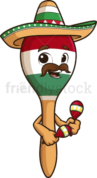 Mexican maraca. PNG - JPG and vector EPS (infinitely scalable).