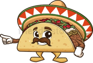 Mexican taco presenting. PNG - JPG and vector EPS (infinitely scalable).