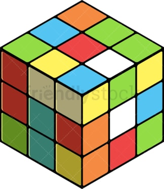 Rubik's cube. PNG - JPG and vector EPS file formats (infinitely scalable). Image isolated on transparent background.