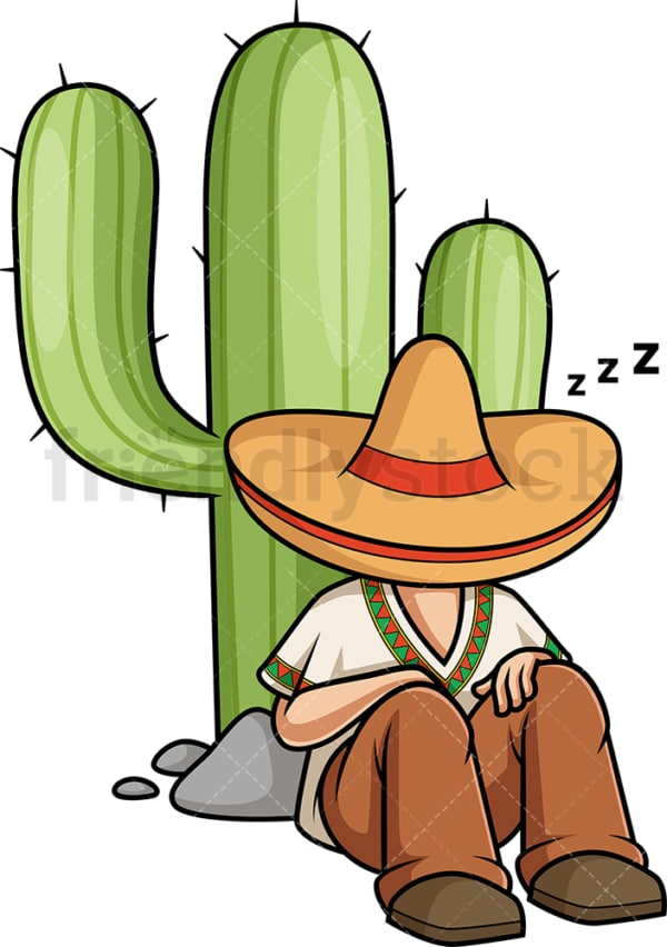 Sleeping mexican man. PNG - JPG and vector EPS (infinitely scalable).