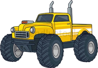 Yellow monster truck. PNG - JPG and vector EPS (infinitely scalable).