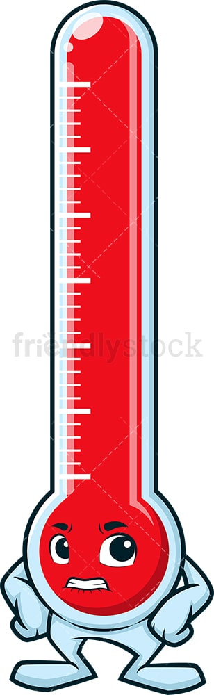 Angry thermometer. PNG - JPG and vector EPS (infinitely scalable).