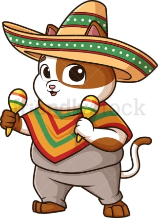 Mexican cat. PNG - JPG and vector EPS (infinitely scalable).