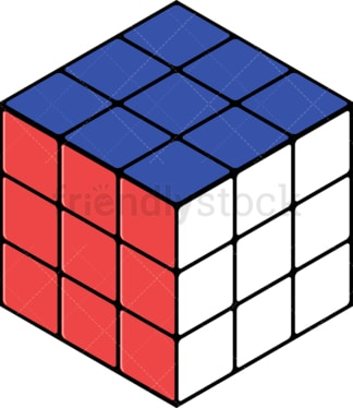 Solved rubik's cube. PNG - JPG and vector EPS file formats (infinitely scalable). Image isolated on transparent background.