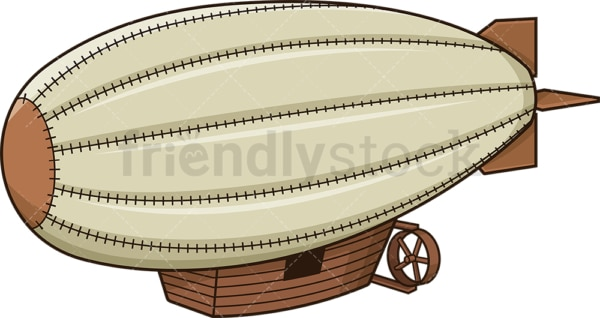 Vintage airship. PNG - JPG and vector EPS (infinitely scalable).