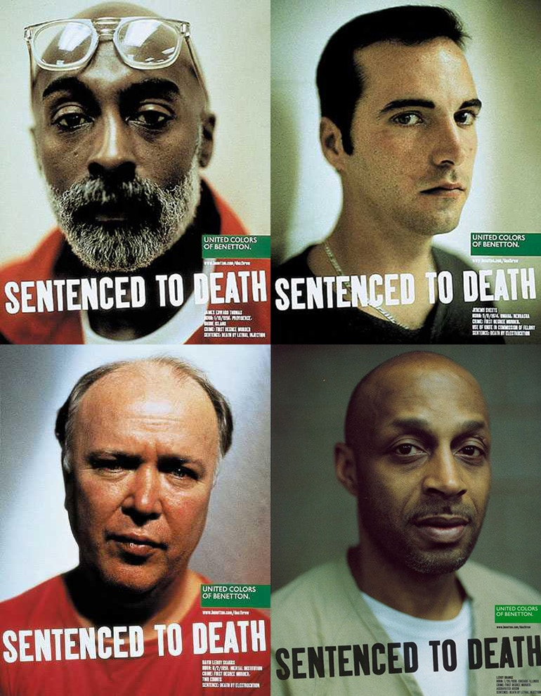 Benetton ad 1996 - Sentenced to Death