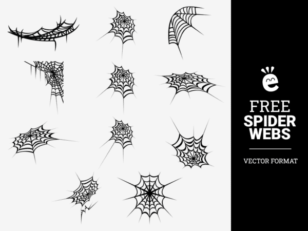 Black And White Spider Webs - Free Vector Graphics