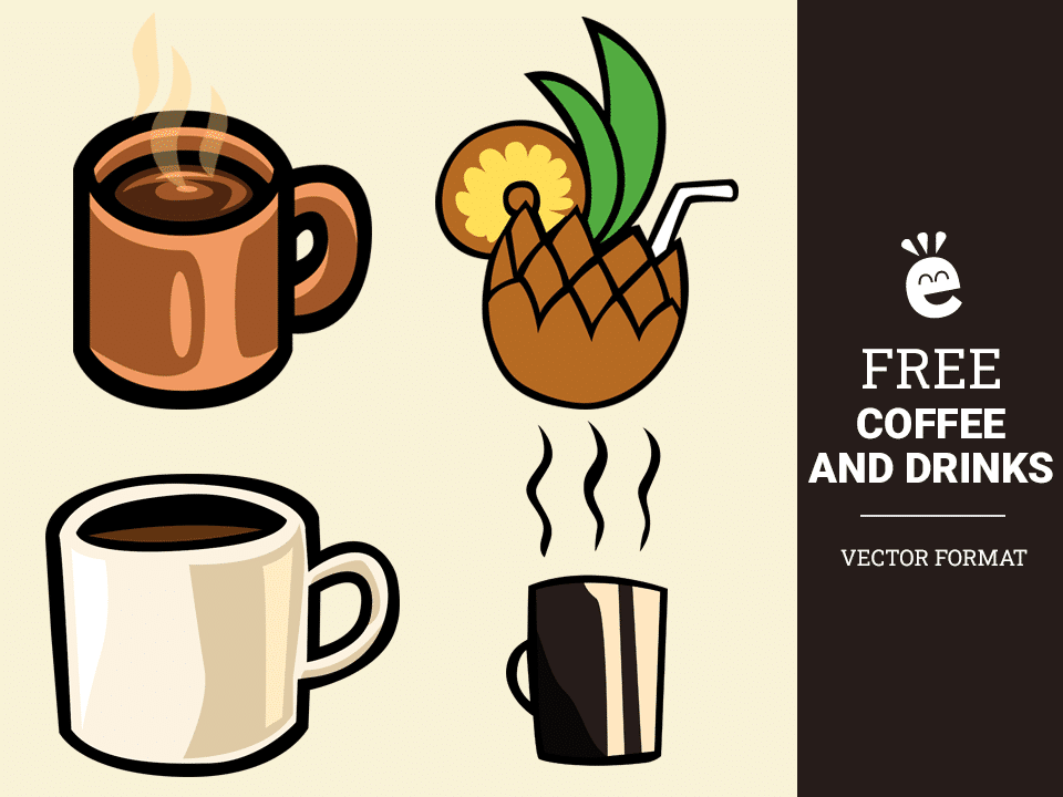 Coffee And Drinks - Free Vector Graphics
