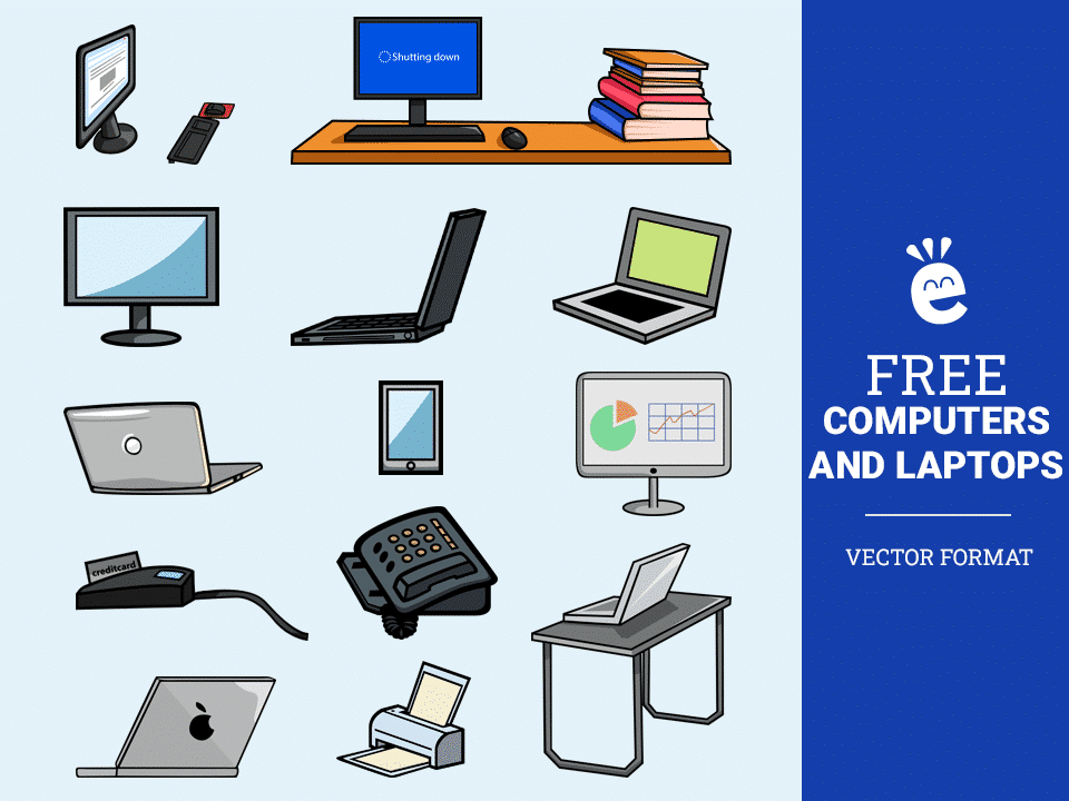 Computers And Laptops - Free Vector Graphics