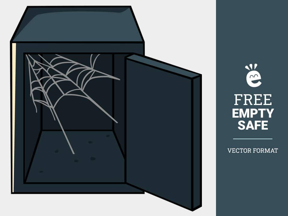 Empty Safe With Cobweb - Free Vector Graphics
