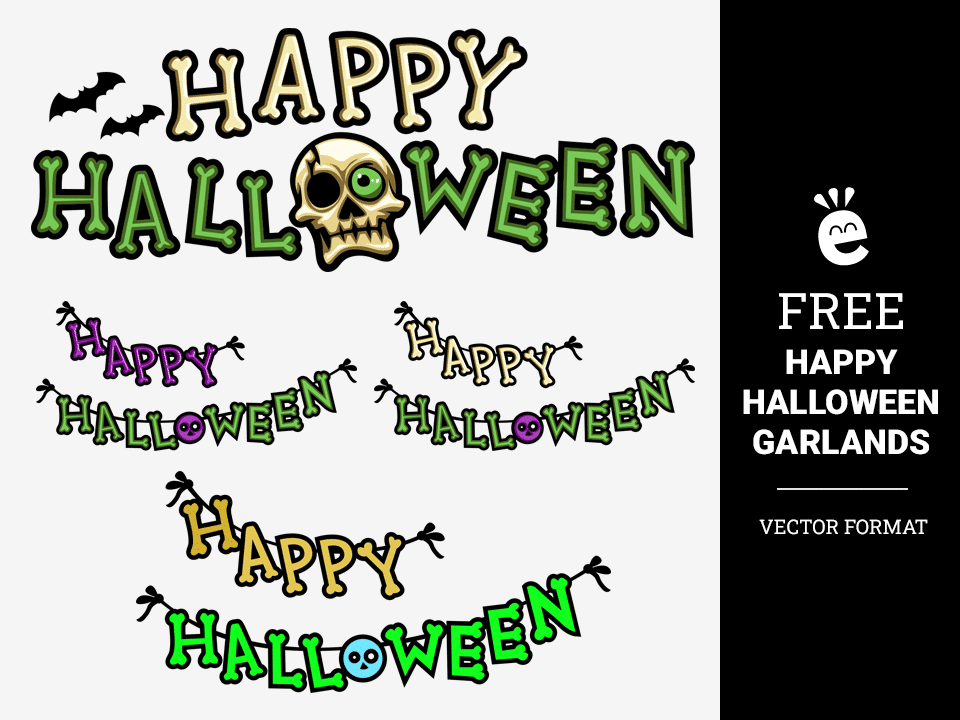 Happy Halloween Garlands - Free Vector Graphics