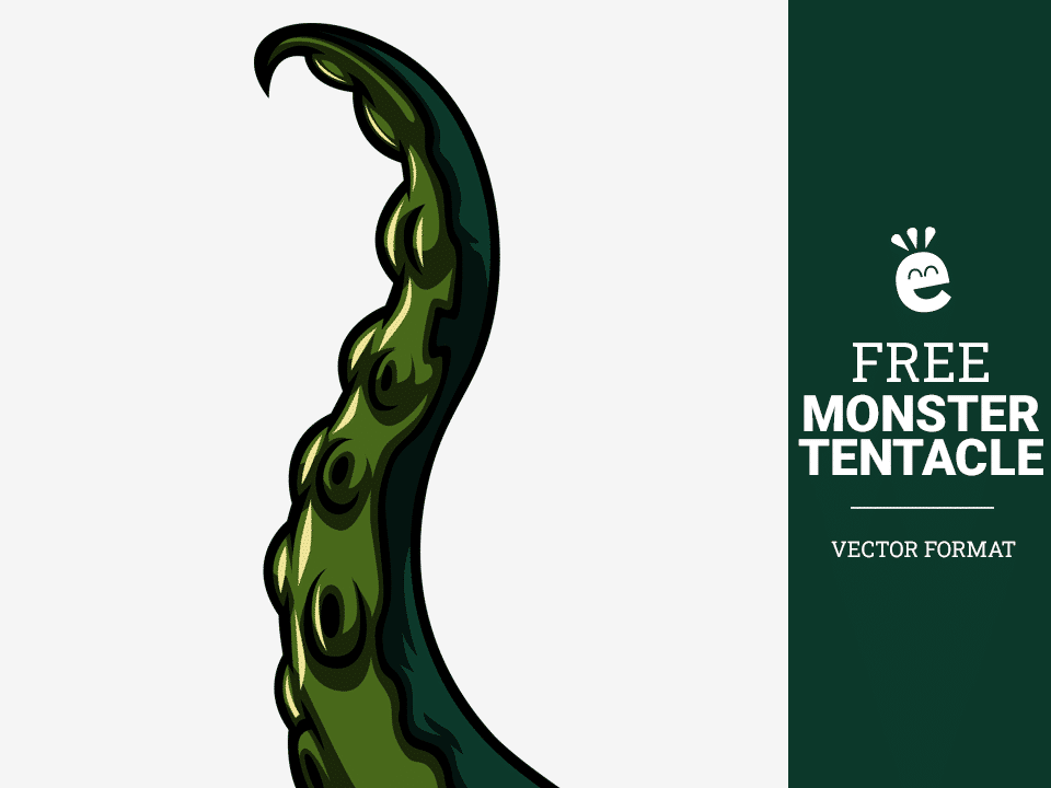 Swamp Monster Tentacle - Free Vector Graphic