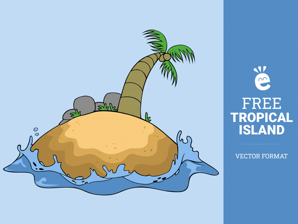 Tropical Island - Free Vector Graphic