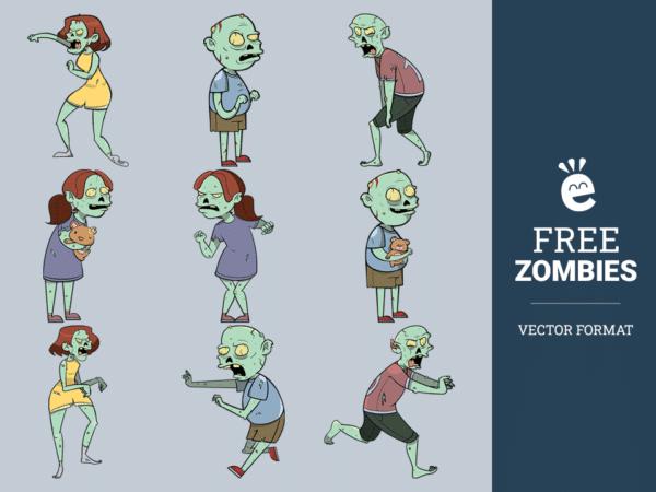 Creepy Zombies - Free Vector Graphics