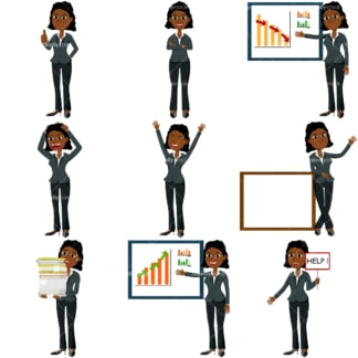 Business collection #3 tina. PNG - JPG and vector EPS file formats (infinitely scalable). Images isolated on transparent background.