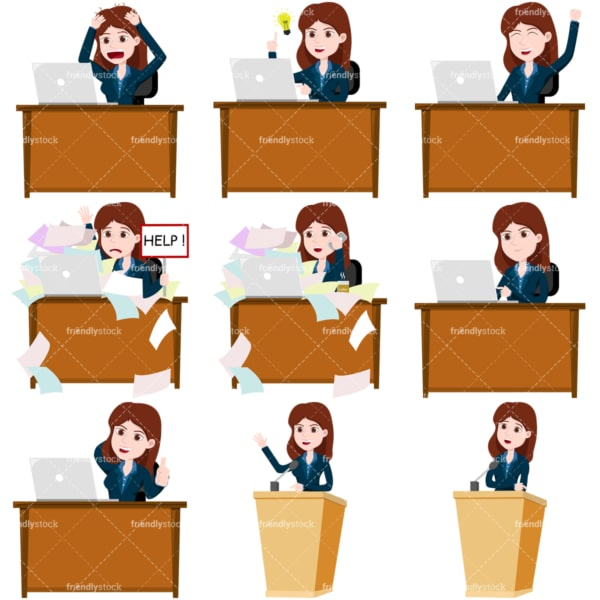 Business collection #3 lana. PNG - JPG and vector EPS file formats (infinitely scalable). Images isolated on transparent background.