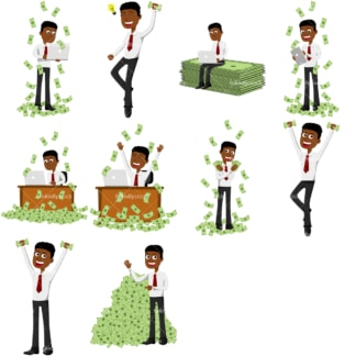 Money collection #2 conor. PNG - JPG and vector EPS file formats (infinitely scalable). Images isolated on transparent background.