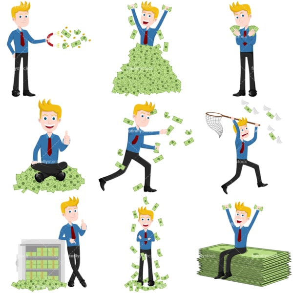 Money collection #2 george. PNG - JPG and vector EPS file formats (infinitely scalable). Images isolated on transparent background.