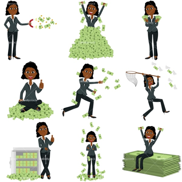 Money collection #2 tina. PNG - JPG and vector EPS file formats (infinitely scalable). Images isolated on transparent background.