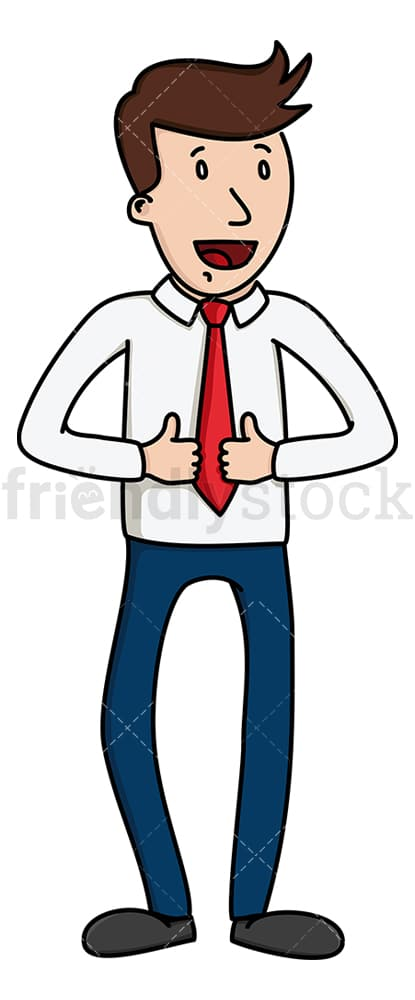 Businessman giving two thumbs up signs. PNG - JPG and vector EPS file formats (infinitely scalable). Image isolated on transparent background.