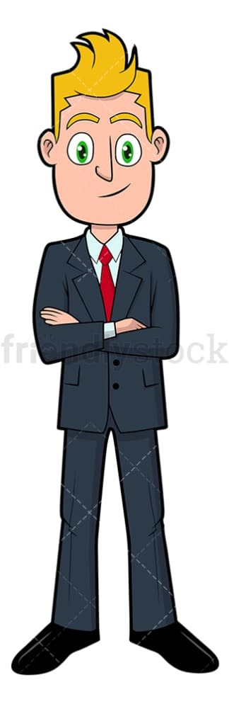 Confident businessman standing. PNG - JPG and vector EPS file formats (infinitely scalable). Image isolated on transparent background.