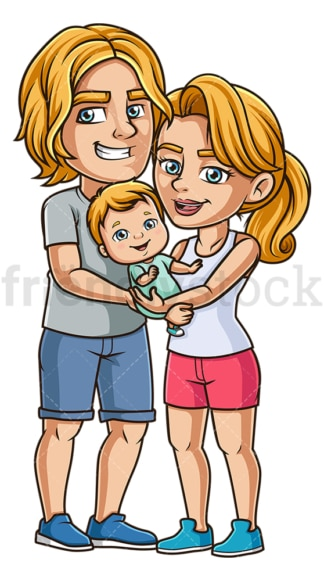 Parents with baby. PNG - JPG and vector EPS (infinitely scalable).