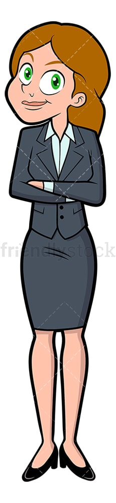 Successful businesswoman standing confidently. PNG - JPG and vector EPS file formats (infinitely scalable). Image isolated on transparent background.