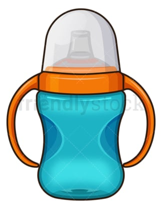 Baby water bottle. PNG - JPG and vector EPS file formats (infinitely scalable). Image isolated on transparent background.