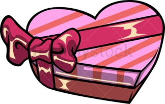 Heart shaped gift box with ribbon. PNG - JPG and vector EPS file formats (infinitely scalable). Image isolated on transparent background.