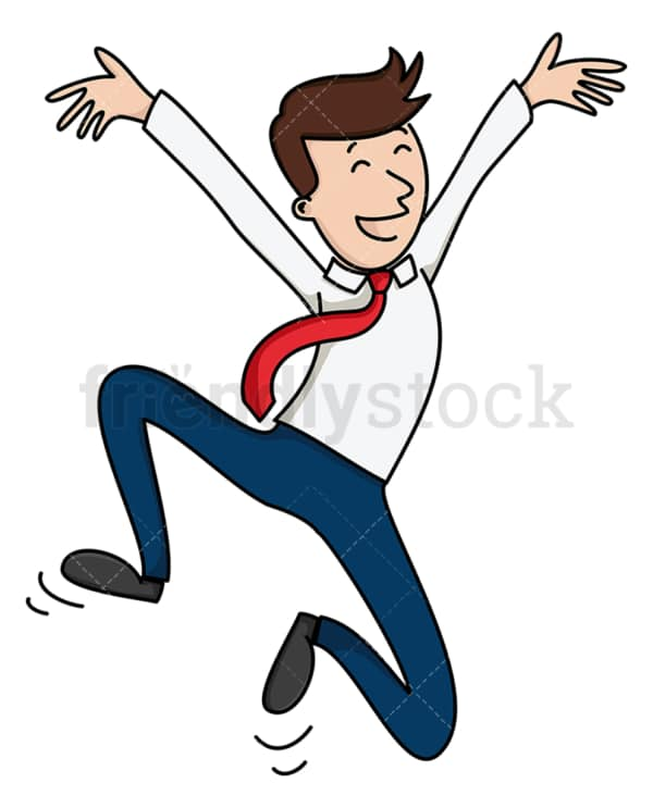 Triumphant man jumping. PNG - JPG and vector EPS file formats (infinitely scalable). Image isolated on transparent background.