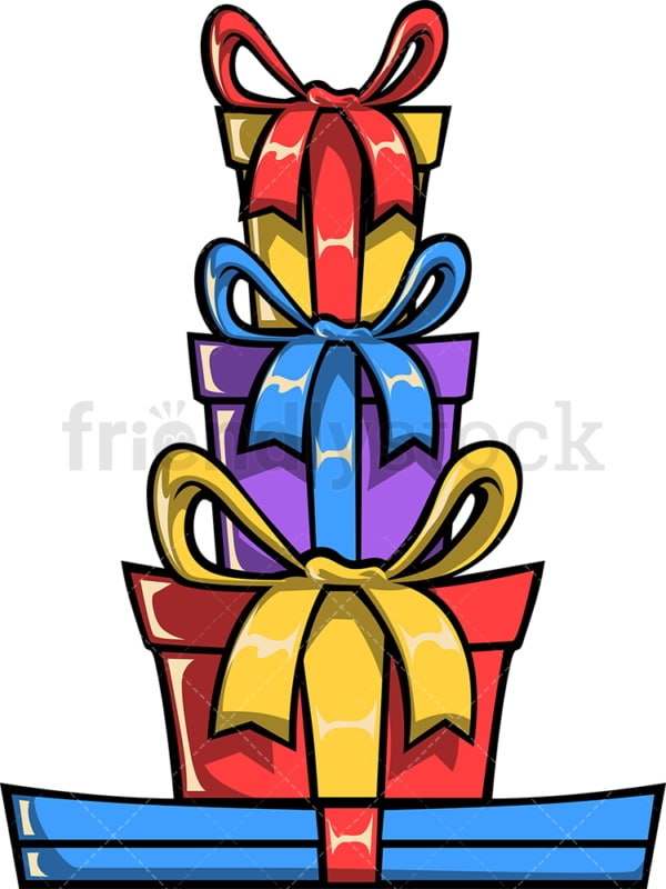Stacked gift boxes. PNG - JPG and vector EPS file formats (infinitely scalable). Image isolated on transparent background.