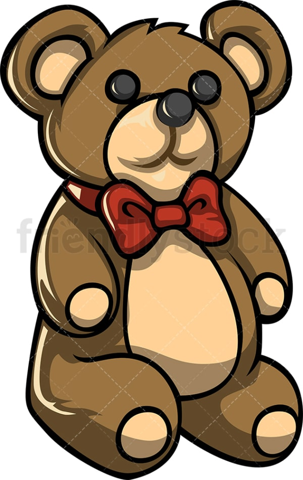 Teddy bear toy. PNG - JPG and vector EPS file formats (infinitely scalable). Image isolated on transparent background.