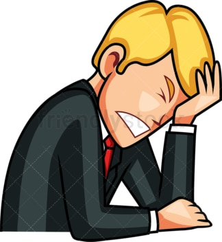 Businessman facepalm. PNG - JPG and vector EPS file formats (infinitely scalable). Image isolated on transparent background.