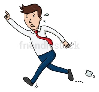 Businessman running after someone. PNG - JPG and vector EPS file formats (infinitely scalable). Image isolated on transparent background.