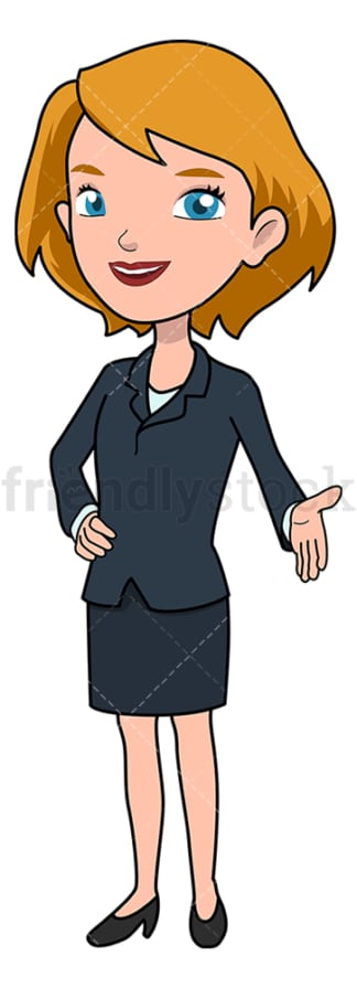 Businesswoman ready for handshake. PNG - JPG and vector EPS file formats (infinitely scalable). Image isolated on transparent background.