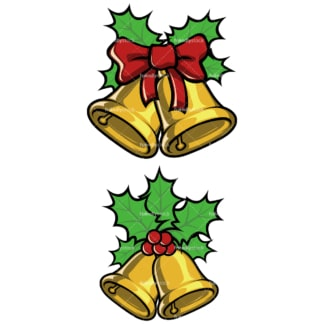 Christmas bells. PNG - JPG and vector EPS file formats (infinitely scalable). Image isolated on transparent background.