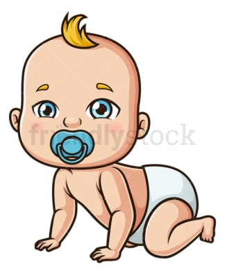 Baby boy crawling. PNG - JPG and vector EPS (infinitely scalable).