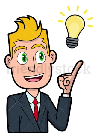 Brilliant businessman with new idea. PNG - JPG and vector EPS file formats (infinitely scalable). Image isolated on transparent background.