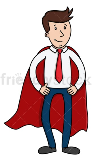 Super businessman with red cape. PNG - JPG and vector EPS (infinitely scalable).