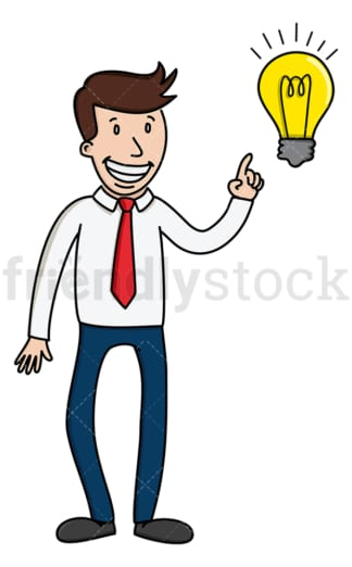 Creative businessman with an idea. PNG - JPG and vector EPS (infinitely scalable).