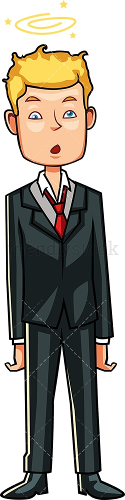 Dizzy businessman. PNG - JPG and vector EPS file formats (infinitely scalable). Image isolated on transparent background.