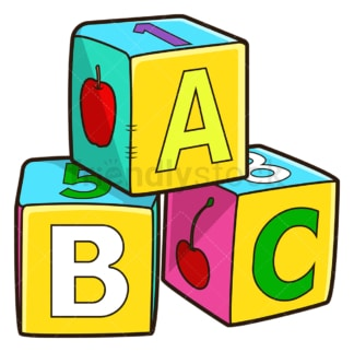 Baby soft stacking abc blocks. PNG - JPG and vector EPS file formats (infinitely scalable). Image isolated on transparent background.