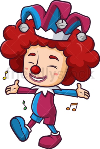 Jester entertaining with music. PNG - JPG and vector EPS (infinitely scalable).