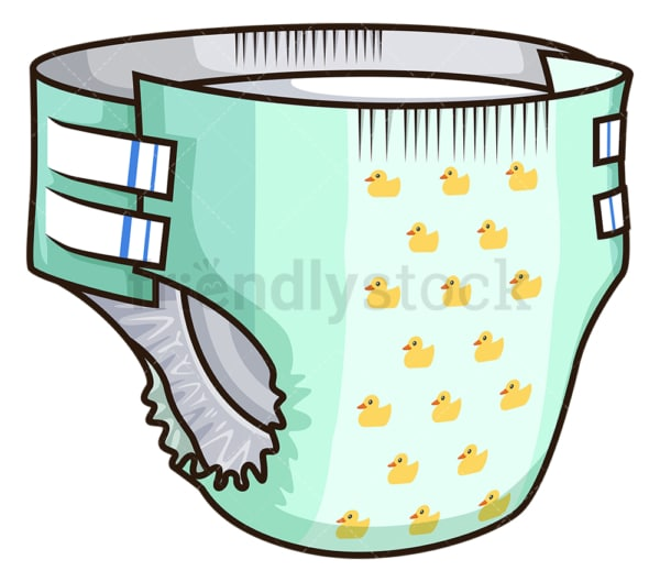 Baby diaper. PNG - JPG and vector EPS file formats (infinitely scalable). Image isolated on transparent background.