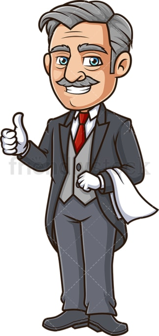 Butler thumbs up. PNG - JPG and vector EPS (infinitely scalable).