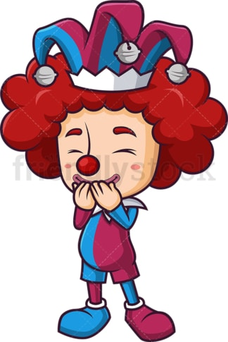Court jester giggling. PNG - JPG and vector EPS (infinitely scalable).