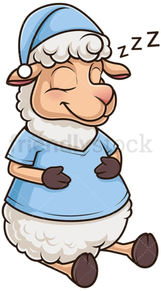 Cute sheep sleeping. PNG - JPG and vector EPS (infinitely scalable).