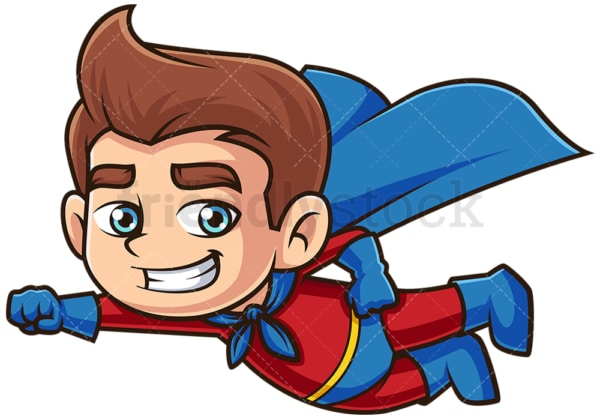 Superhero kid flying. PNG - JPG and vector EPS (infinitely scalable).